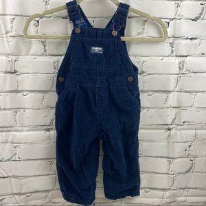 2 for $15 Oshkosh baby corduroy navy overalls